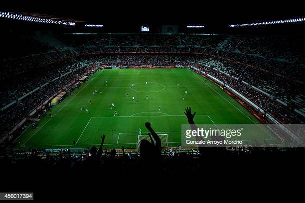 General view of Ramon Sanchez Pizjuan stadium during the UEFA Europa League group G match between Sevilla FC and Feyenoord on September 18, 2014 in...