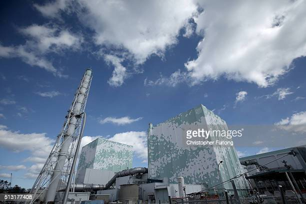 A general view of Reactors 5 and 6 as workers continue the decontamination and decommissioning process at the Tokyo Electric Power Co's embattled...