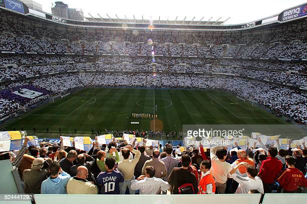 General view of Real Madrid's Santiago Bernabeu stadium before Zinedine Zidane's last match for the club against Villareal   Location Madrid Spain