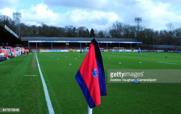 A general view of Recreation Ground home of Aldershot Town prior to the Vanarama National League match between Aldershot Town and Lincoln City at...