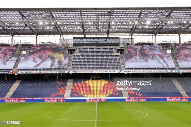 General view of Red Bull Arena at the 2. Liga match between FC Liefering and FC Blau Weiss Linz at Red Bull Arena on December 1, 2019 in Salzburg,...