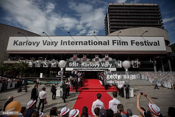 General view of red carpet before the opening ceremony of the opening ceremony of the 51st Karlovy Vary International Film Festival on July 1, 2016...