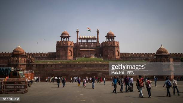 General view of Red Fort ahead of the FIFA U17 World Cup India 2017 tournament at on October 5 2017 in New Delhi India