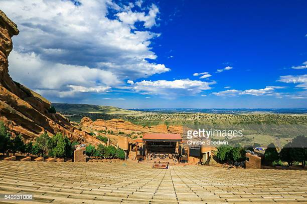 General view of Red Rocks Amphitheatre on 31 August 2014 in Morrison Colorado United States of America