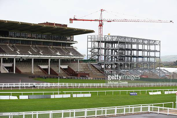 General view of redevelopments at Cheltenham Racecourse on November 11, 2014 in Cheltenham, England.