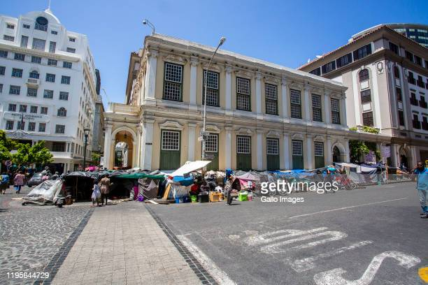 A general view of refugees at the Central Methodist Church in Green Market Square on January 23 2020 in Cape Town South Africa The court case between...
