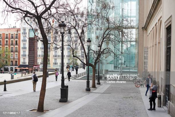 General view of Reina Sofia Museum on March 12, 2020 in Madrid, Spain. Yesterday known cases of Covid-19 in Madrid rose from 782 to 1024, this is...