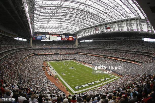 A general view of Reliant Stadium as the Kansas City Chiefs play the Houston Texans on September 9 2007 in Houston Texas
