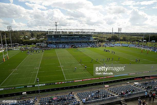 General view of Remondis Stadium before the round 24 NRL match between the Cronulla Sharks and the Canberra Raiders at Remondis Stadium on August 24,...
