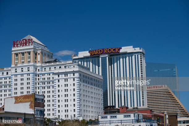A general view of Resorts Hard Rock Showboat and Ocean Casino during the coronavirus pandemic on May 7 2020 in Atlantic City New Jersey For the past...