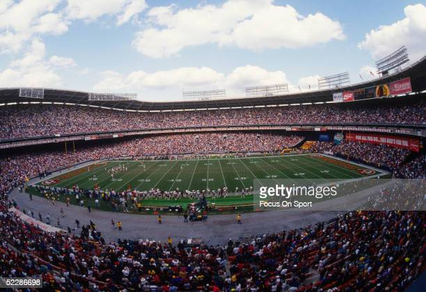 General view of RFK Stadium during a football game circa 1970's in Washington DC