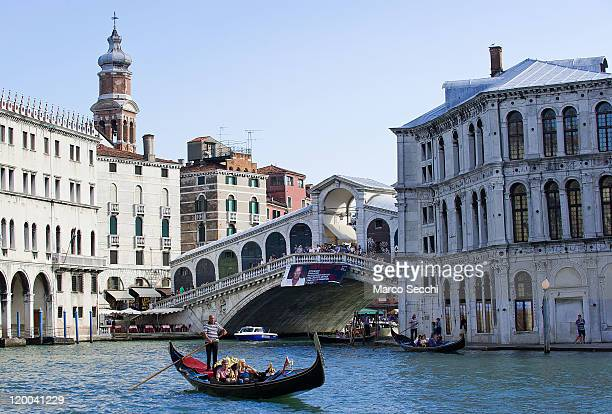 A general view of Rialto Bridge on July 29 2011 in Venice Italy The over 400 year old Rialto Bridge is one of Italy's s most famous sights Millions...