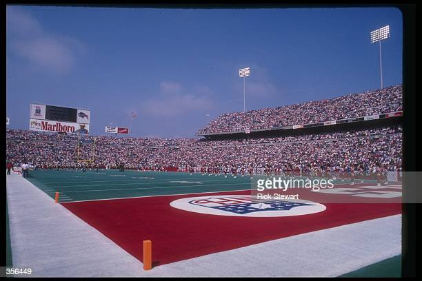 General view of Rich Stadium in Orchard Park, New York.