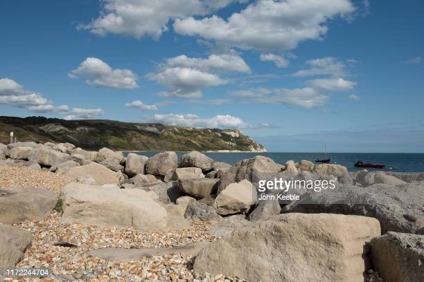 A general view of Ringstead Bay Dorset on August 12 2019 in Ringstead England