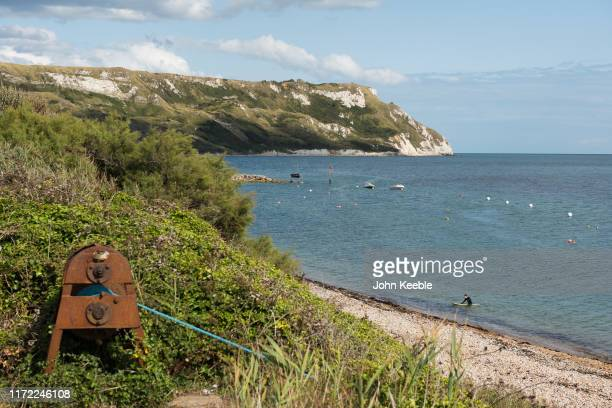 General view of Ringstead Bay, Dorset on August 12, 2019 in Ringstead, England.