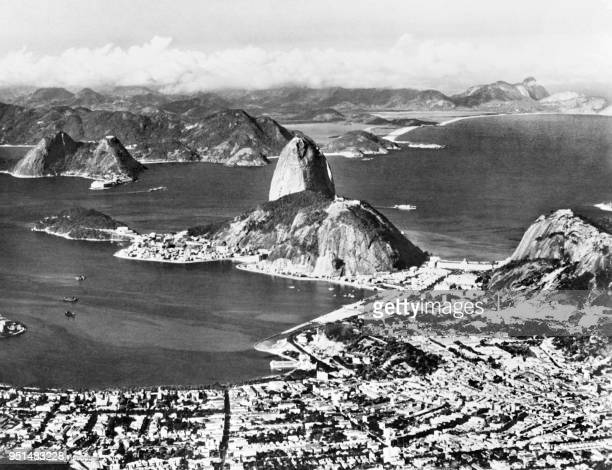 General view of Rio de Janeiro and the Sugar Loaf in 1936
