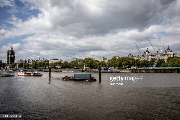 A general view of River Thames in London United Kingdom on May 5 2019