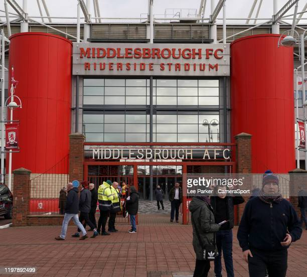 A general view of Riverside Stadium home of Middlesbrough FC during the Sky Bet Championship match between Middlesbrough and Blackburn Rovers at...