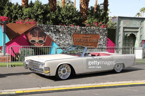 General View Of RMD Garage's 1962 Lincoln Continental Outside Of Magic Hour at Playboy Social Club on April 13 2018 in Palm Springs California