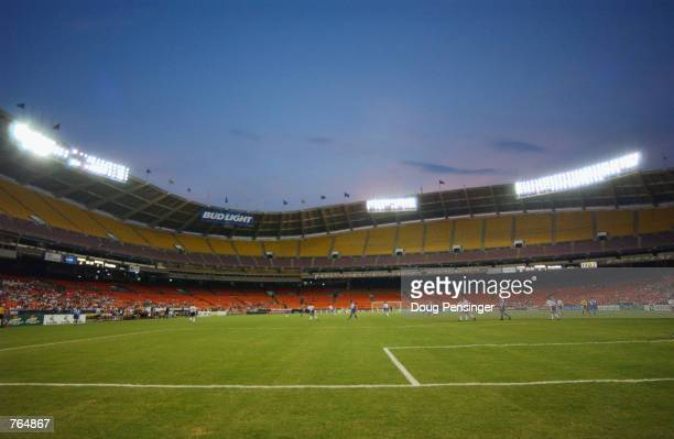 General view of Robert Fitzgerald Kennedy Stadium in Wahington DC during the WUSA match between the Washington Freedom and the Boston Breakers on...