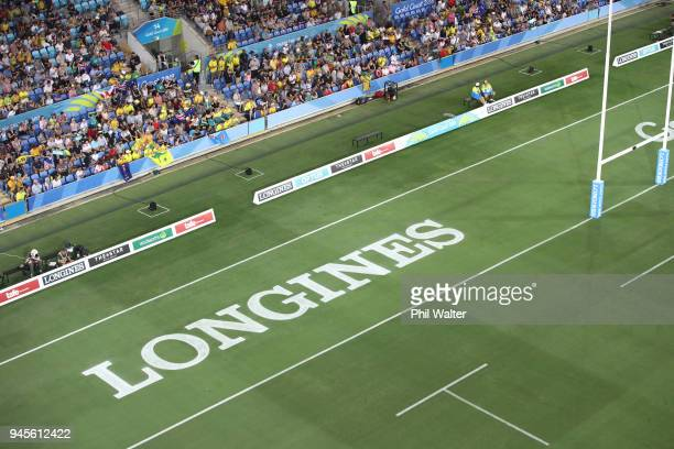 A general view of Robina Stadium during Rugby Sevens on day nine of the Gold Coast 2018 Commonwealth Games at Robina Stadium on April 13 2018 on the...