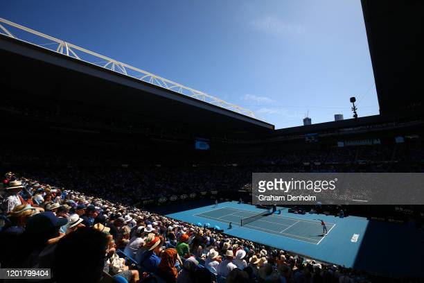 General view of Rod Laver Arena as Rafael Nadal of Spain competes against Pablo Carreno Busta of Spain during the Men's Singles third round match on...