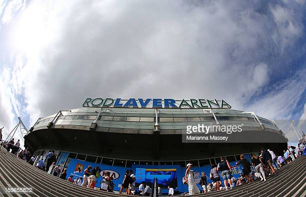 General view of Rod Laver Arena during day five of the 2013 Australian Open at Melbourne Park on January 18, 2013 in Melbourne, Australia.