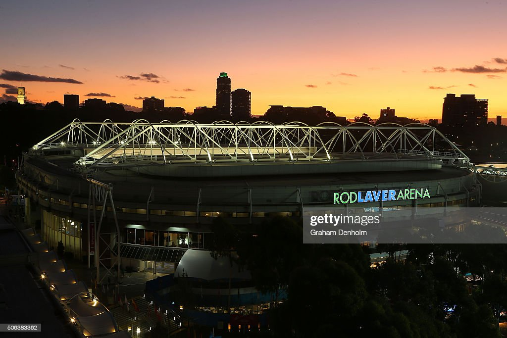 A general view of Rod Laver Arena during day six of the 2016 Australian Open at Melbourne Park on January 23, 2016 in Melbourne, Australia.
