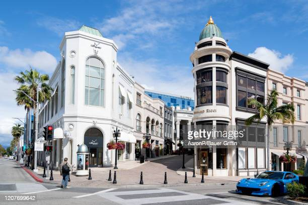 General view of Rodeo Drive after Los Angeles ordered the closure of all non-essential services and entertainment venues earlier this week and hours...