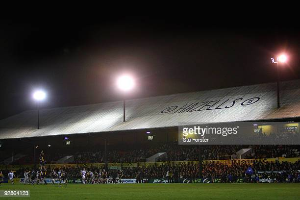 General view of Rodney Parade during the LV = Anglo Welsh Cup match between Newport Gwent Dragons and Sale Sharks at Rodney Parade on November 6,...