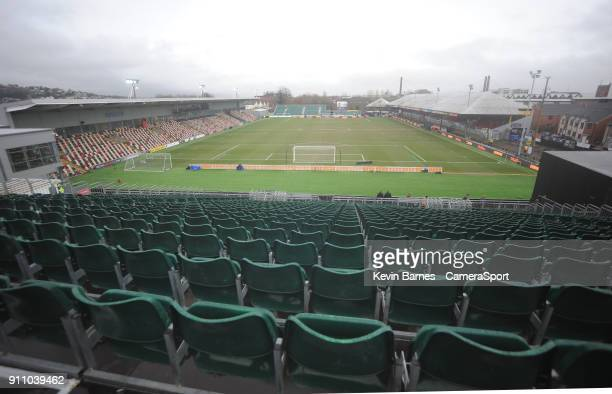 A general view of Rodney Parade home of Newport County during the The Emirates FA Cup Fourth Round match between Newport County and Tottenham Hotspur...