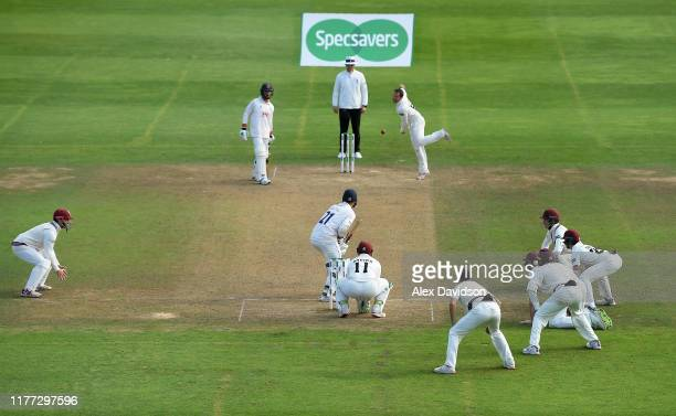 General view of Roelof Van Der Merwe of Somerset bowling during Day Four of the Specsavers County Championship Division One match between Somerset...