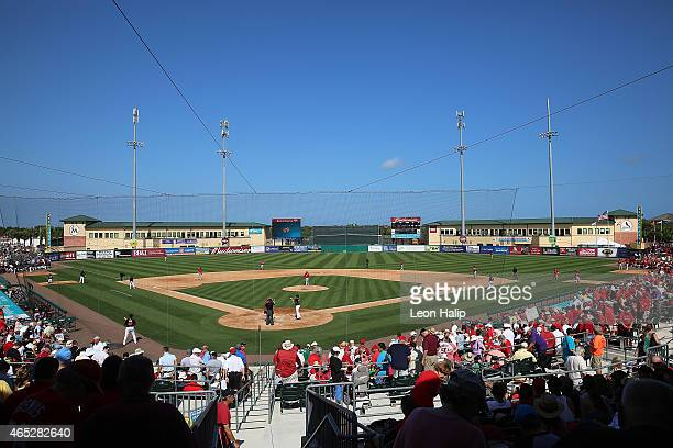 A general view of Roger Dean Stadium during the Spring Training game between the Miami Marlins and the St Louis Cardinals on March 5 2015 in Jupiter...
