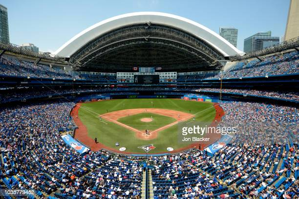 A general view of Rogers Centre during a game between the Los Angeles Angels and the Toronto Blue Jays at the Rogers Centre on Thursday May 24 2018...
