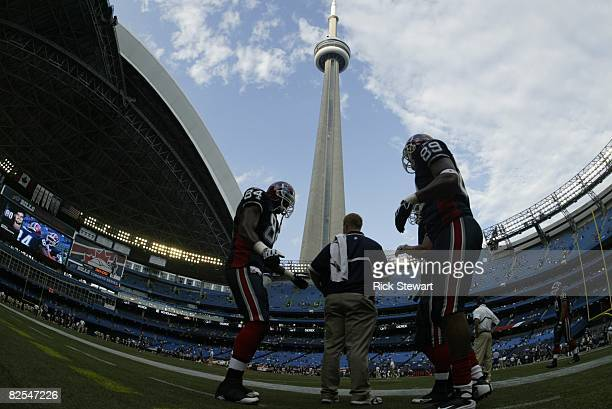 General view of Rogers Centre in Toronto, Canada with the roof open during the NFL preseason game between the Pittsburgh Steelers and the Buffalo...