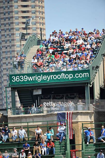 A general view of rooftops on April 20 2014 at Wrigley Field in Chicago Illinois The Cincinnati Reds defeated the Chicago Cubs 82