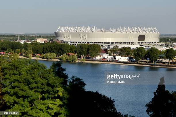 General view of Rostov Arena ahead of the match against Korea on June 21 2018 in RostovonDon Russia