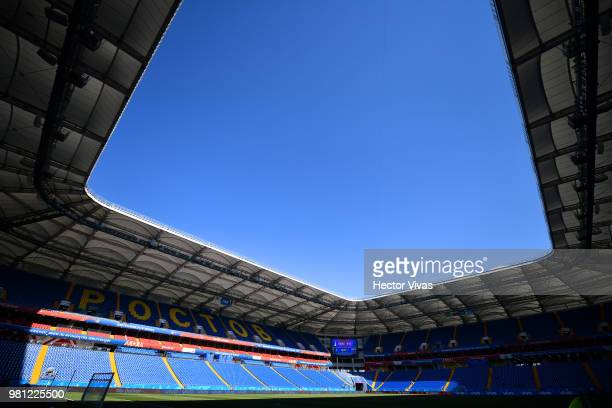 General view of Rostov Arena during a training and press conference ahead of the match against Mexico as part of FIFA World Cup Russia 2018 at Rostov...
