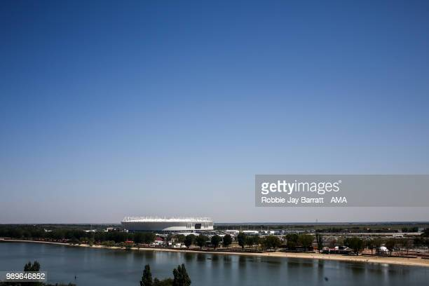 A general view of Rostov Arena prior to the 2018 FIFA World Cup Russia Round of 16 match between Belgium and Japan at Rostov Arena on July 2 2018 in...