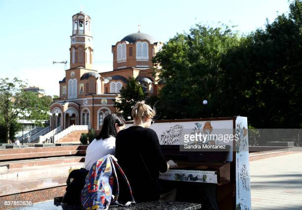 General view of RostovonDon city during a media tour of Russia 2018 FIFA World Cup venues on August 19 2017 in RostovonDon Russia
