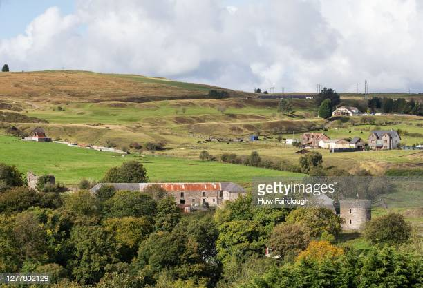 General view of Round House farm Nantyglo which was protected by the Round house towers on October 1, 2020 in Nantyglo, Wales, United Kingdom. The...