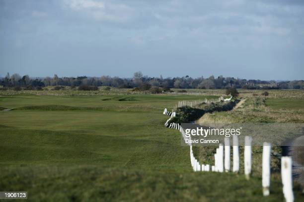 General view of Royal St Georges Golf Club par 5 14th hole taken during a photoshoot held on April 2, 2003 at Royal St Georges Golf Club, in...
