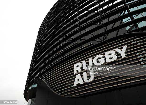 General view of Rugby Australia HQ before Rugby Australia CEO Rob Clarke spoke to the media during a press conference at Rugby AU Headquarters on...