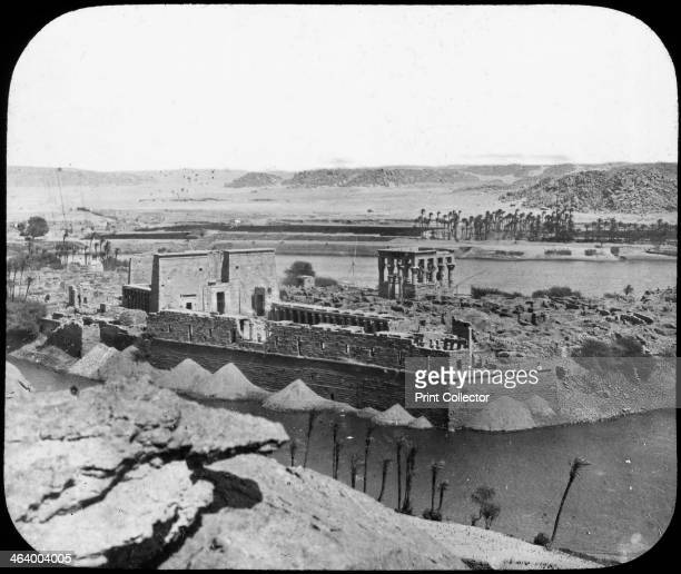 General view of ruins Philae Egypt c1890 The temple complex on the island of Philae in the Nile was begun in the 4th century BC After suffering...