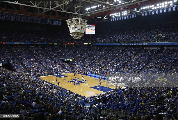 General view of Rupp Arena home of the Kentucky Wildcats during the exhibition game against the Transylvania Pioneers at Rupp Arena on November 1,...
