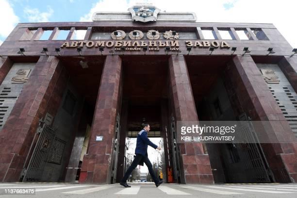 General view of Russian tycoon Oleg Deripaska's carmaker GAZ plant in Nizhny Novgorod on April 16, 2019.