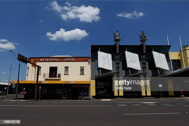 A general view of Ruthven Street on January 9 2012 in Toowoomba Australia January marks one year since Queensland suffered from flooding that killed...