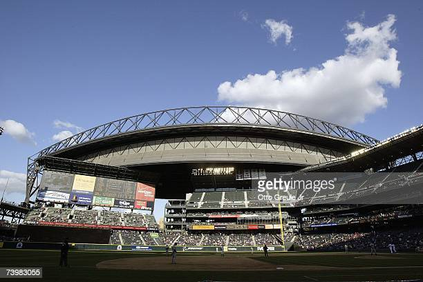 A general view of Safco Field taken during the game between the Seattle Mariners and the Minnesota Twins on April 19 2007 at Safeco Field in Seattle...