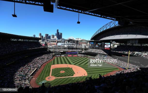 A general view of Safeco Field as the Seattle Mariners take on the Chicago White Sox during their game at Safeco Field on July 22 2018 in Seattle...