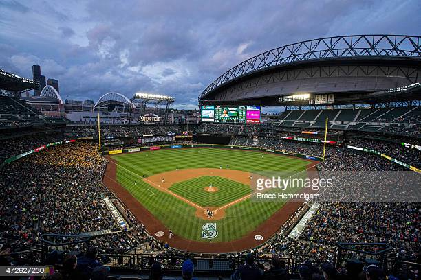 A general view of Safeco Field during a game between the Seattle Mariners and the Minnesota Twins on April 24 2015 at Safeco Field in Seattle...